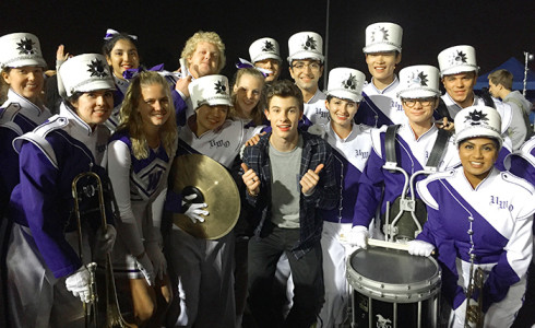 The Western Mustang Band is prominently featured in a new video, Something Big, starring teen pop star Shawn Mendes.