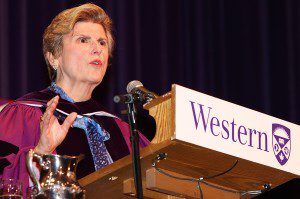 """Who, among you, would even recognize the person you will become over time? But this doesn't mean you shouldn't have ambitions, dreams, to teach, learn and change the world,"" Donna Soble Kaufman, past board chair of the Institute of Corporate Directors and former chair of TransAlta Corporation, told graduates at the Wednesday, June 10 morning session of Western's 305th Convocation."