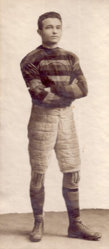 Former Western student and First World War flying ace Eddie McKay is pictured in his Western rugby-football team uniform, circa 1914.