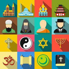 Graphic dipicting religions of the wold