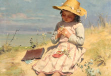 Realist painting 'The Young Botanist, 1890'