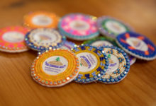Indigenous beaded buttons