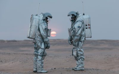 Astronauts on analog mission to Mars