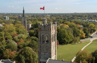 University College in foreground in the fall