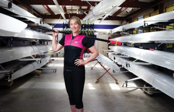 Jane Thornton and rowing shells